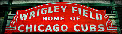 Lets Play Photograph - Wrigley Field Sign -- No.3 by Stephen Stookey