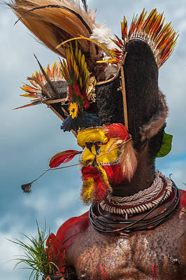 Photograph - Wigman In Traditional Headdress by Judith Barath