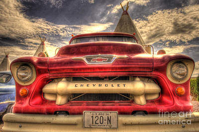 Trucks Photograph - Wigwam Chevy by Cheyenne L  Rouse