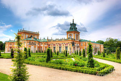 Photograph - Wilanow Palace In Warsaw Poland by Michal Bednarek