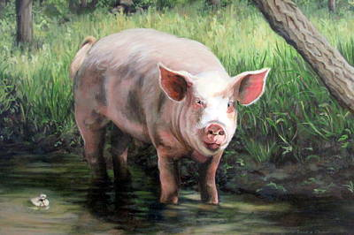 Painting - Wilbur In His Woods by Sandra Chase