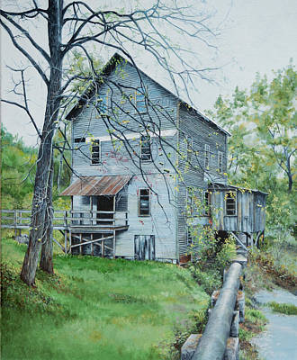 Gristmill Painting - Wilburn Mill 2 by Emily Land