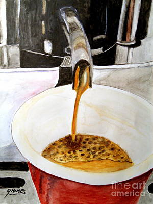 Painting - Wild About Espresso by Carol Grimes