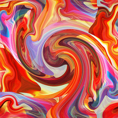 Digital Art - Wild And Colorful Abstract by rd Erickson