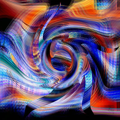 Digital Art - Wild And Colorful - The Beast by rd Erickson