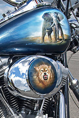 Airbrush Photograph - Wild And Free - Airbrushed Harley by Gill Billington