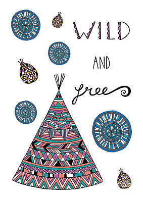 Navajo Digital Art - Wild And Free by Susan Claire