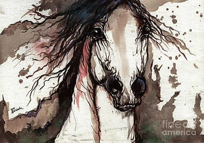 Wild Arabian Horse Print by Angel  Tarantella