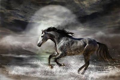Wild As The Sea Art Print by Carol Cavalaris