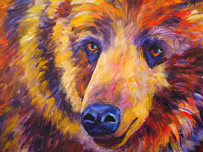 Painting - Wild Bear by Mary Jo Zorad