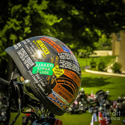 Wild Biker Helmet Stickers Art Print by Tom Gari Gallery-Three-Photography