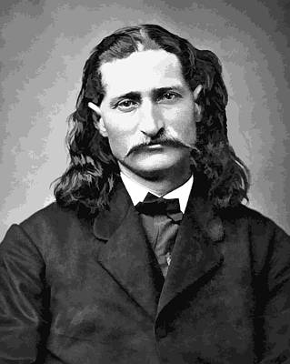 Wild Bill Hickok Grayscale Art Print