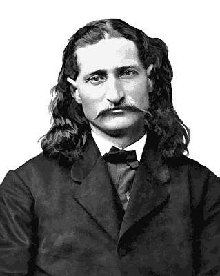 Wild Bill Hickok White Background Art Print