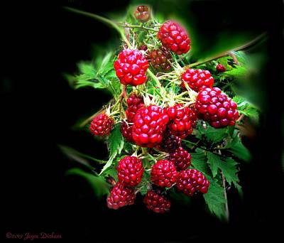 Friendly Digital Art - Wild Blackberries 2 by Joyce Dickens