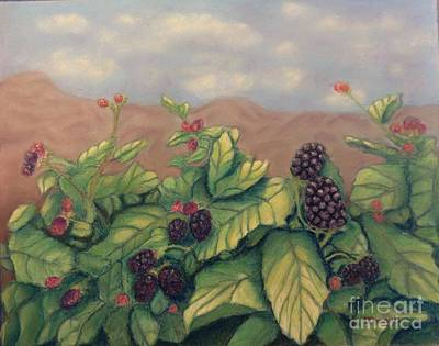 Painting - Wild Blackberries by Laurie Morgan