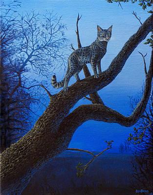 Wild Blue Art Print by Cara Bevan