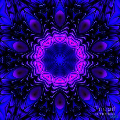 Art Print featuring the digital art Wild Blue by Hanza Turgul