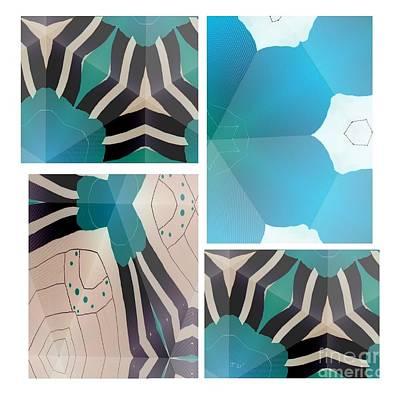 Mixed Media - Wild Blue by Ann Calvo