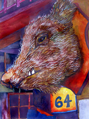 Storefront Mixed Media - Wild Boar by James Huntley