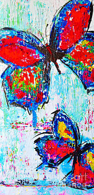 Painting - Wild Butterflies by Patricia Awapara