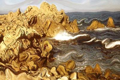 Painting - Wild California Coast - Modern Art by Art America Gallery Peter Potter