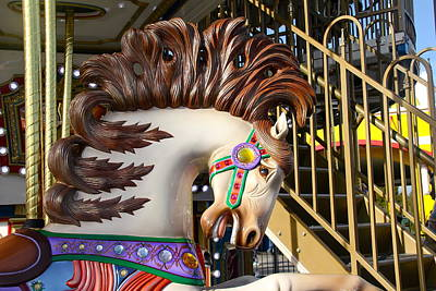 Photograph - Wild Carnival Horse Close Up by Denise Mazzocco