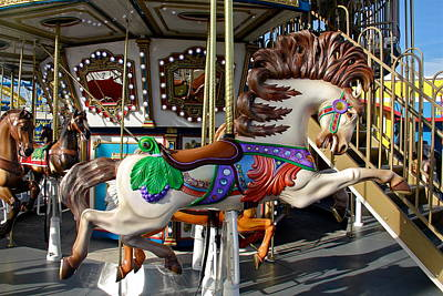 Photograph - Wild Carnival Horse by Denise Mazzocco
