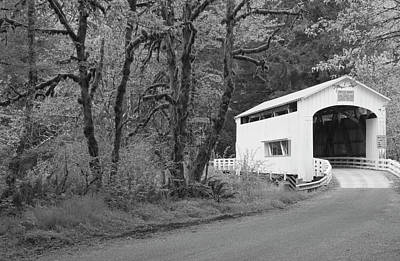 Sutton Photograph - Wild Cat Covered Bridge, Lane County by William Sutton