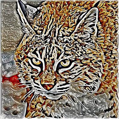 House Pet Digital Art - Wild Cat Glaze by Yury Malkov