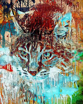 House Pet Digital Art - Wild Cat Hunting by Yury Malkov