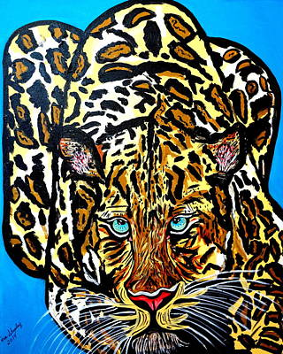 Art Print featuring the painting Wild Cat by Nora Shepley