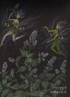 Fey Drawing - Wild Catnip by Dawn Fairies