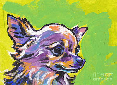 Dog Portrait Painting - Wild Chi by Lea S