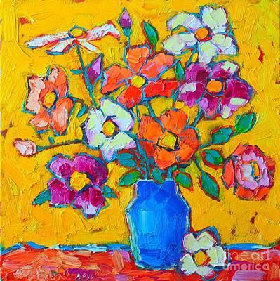 Wild Colorful Roses Art Print by Ana Maria Edulescu