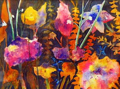 Wild Cottage Garden Art Print by Henny Dagenais