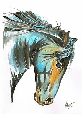 Forelock Painting - Wild Courage by Robyn Green