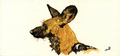 Study Painting - Wild Dog by Juan  Bosco