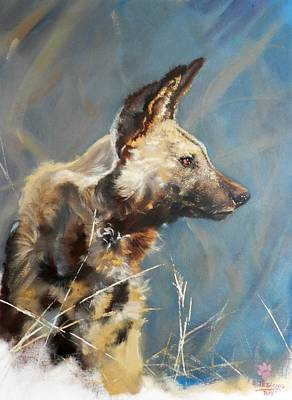 Painting - Wild Dog Profile by Robert Teeling