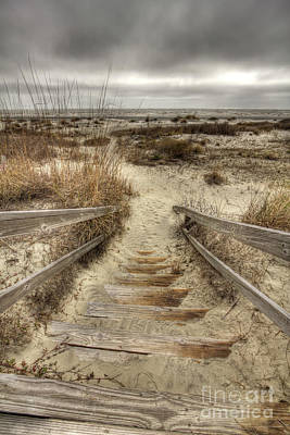 Of Stairs Photograph - Wild Dunes Beach South Carolina by Dustin K Ryan