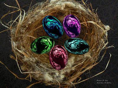 Digital Art - Wild Eggs In My Nest by Barbara St Jean