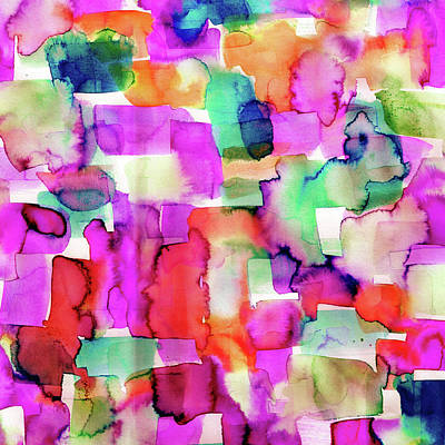 Abstract Digital Painting - Wild Eye Magenta by Amy Sia