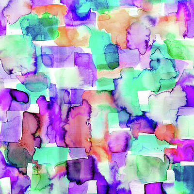 Abstract Digital Painting - Wild Eye Purple by Amy Sia