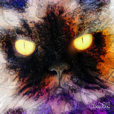 Digital Art - Wild Eyes - Square Version by John Beck