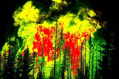 Painting - Wild Fire Blow Out  by Shane Dufoe
