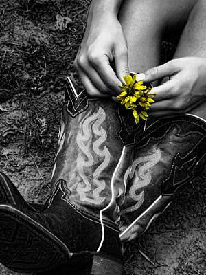 Photograph - Wild Flower Boots by Kristie  Bonnewell