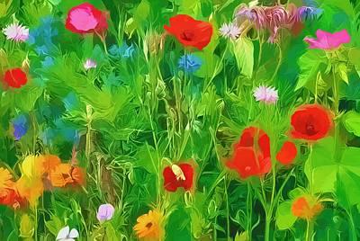 Digital Art - Wild Flower Meadow by Peggy Gabrielson