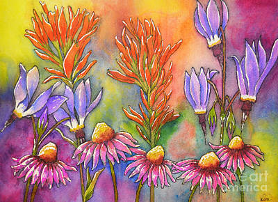 Wild Flower Memories Art Print by Dion Dior
