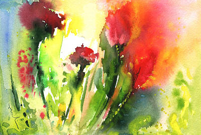 Acuarelas Painting - Wild Flowers 09 by Miki De Goodaboom