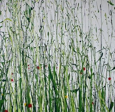 Wild Flowers And  Grasses No 4 Art Print by Mike   Bell