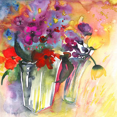 Painting - Wild Flowers Bouquets 02 by Miki De Goodaboom